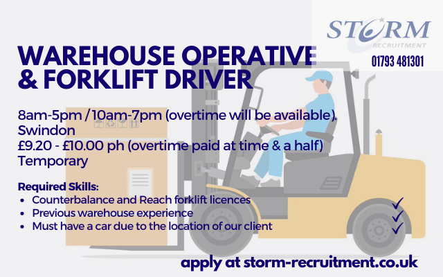 Warehouse Operative and Forklift Driver