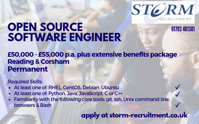 Open Source Software Engineer - Reading